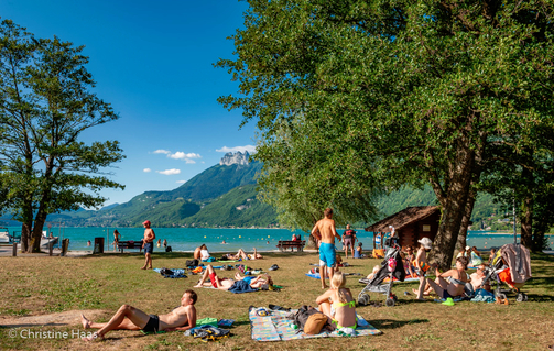 plage doussard lake annecy